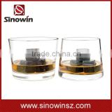 100% Natural Whiskey Stones 9pcs Set Sipping Ice Cube Whisky Stone Whisky Rock Cooler Wedding Gift Favor Christmas Bar