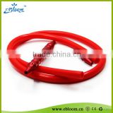 High quality hookah silicone hose with aluminium mouthpiece, soft shisha hose, 100% new material fexible silicone hose