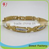 Copper/brass Wholesale new design fashion semi precious genuine gemstone bracelet