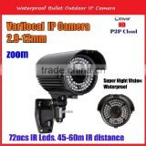 1080 waterproof night vision cameras 2.8-12mm cctv ir bullet camera