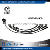 High voltage silicone Ignition wire set, ignition cable kit, spark plug wire KK150-18-140D for Hyundai Pride