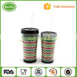 Acrylic Tumblers Paper/Photo Insert 15 oz Double Wall with Lid And Straw 16oz paper insert tumbler