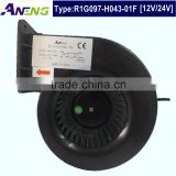 low power 22W high flow 12v mini fan blower with 127 m3/h