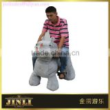 2016 hot selling plush electric equipment walking animal car for shopping mall