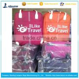 The souvenir travel world trolley luggage bags with compartments and own logo printing for tour group and various clubs