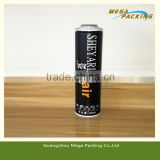 320ml white coating outside aerosol empty spray can for Hair Gel/shave gel