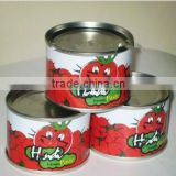Canned chopped tomatoes,canned tomato paste brix 28-30%