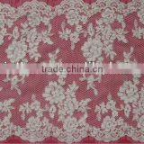 Floral Off white Corded French Lace Trim