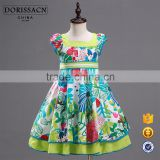 new style cap sleeve color dress kids children flower embroidered girls dress designs party wedding dresses