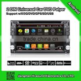 hisound 2016 good quality and cheap android 4.4.2 gps 2 din car dvd player with 3g / gps / wifi