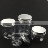 50/100/150ml screw lid clear plastic pet jar                                                                                                         Supplier's Choice