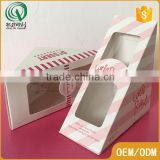 Triangle shape bespoke small food carton gift box with clear window                                                                         Quality Choice                                                                     Supplier's Choice