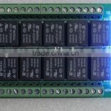 5V 12V 24V 16 channel multifunction relay module delay self-locking cycle timer relay module