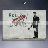 Wholesale inkjet canvas banksy prints for living room decor