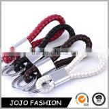 Wholesale Factory Colourful Personalized Braided Leather Keychain