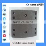 Guilin Daewoo bus high performance rear brake linning with semi metal material