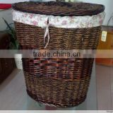 Natural willow with cloth liner laundry basket                                                                                                         Supplier's Choice