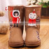 2016 hot sales high quality and cheap brown boots women