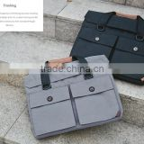 "China Factory Customize 15.6"" Black Laptop Shoulder Bag Business Messenger Handbag Briefcase For Dell"