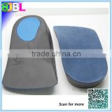 Comfortable EVA orthopedic insole with soft velvet, Silicone gel insole factory, flat feet arch support orthotic insole.