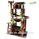 Wood look Big size Cat House Cat tree