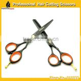 5.5 inch black color hairdressing cutting scissors set razor cutting scissor and thinning shears