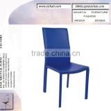 hard PVC wooden leather dining chair cheap modern living room chair restaurant dining tables and chairs