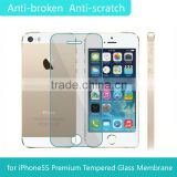 home button sticker for Iphone with tempered glass film for Iphone5/5c/5s
