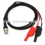 BNC Q9 To Dual 4mm Stackable Shrouded Banana Plug with Test Leads Probe Cable