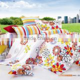 100% cotton nice print 3 or 4pcs sun flower bed sheets Bedding set Duvet cover set Bedline