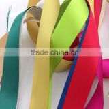 China factory wholesale cheap Bias Tape, single face polyester packaging colorful satin ribbon
