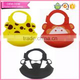 Baby care products easy washable crumb food catcher silicone bibs waterproof