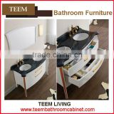 Teem home bathroom furniture Antique double sink modern bath vanity mdf bathroom cabinet
