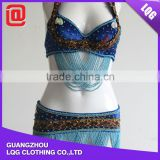 Unique design handmade tribal beaded bra belt Belly Dance Costume