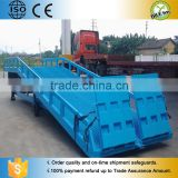 hydraulic folding trailer car ramp/portable container ramp