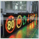 OEM Outdoor Led Speed Display Sign Mobile Solar Radar Detector Road Variable Led Speed Limited Sign