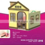 Feiyou produce kids role palying games furniture toys wooden doll houses toys with high density board