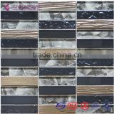 2015 New Liner Metal Mixed Glass Tiles for Hotel Projects/Bar Decoration/Wall Tiles/TV Wall