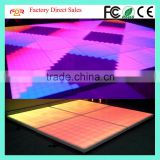 100% Factory Direct Sale 100x100cm 12mm Milk Acrylic 1152pcs 5mm RGB 8*8 Pixel Digital LED Dance Floor