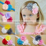Elastic Lace Messy Flower Headbands Baby Girls Flower Headband Hair Accessories Baby Kids FlowerWeave band Baby Hair Accessories
