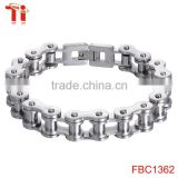 Good Quality Bicycle link chain stainless steel mens hand biker bracelet jewelry