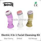 2016 hot selling custom ultrasonic wrinkle remover machine scalp cleansing brush , Facial cleansing brush