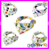 C285 Baby Cute Cartoon Printed Soft Drool Bibs Unisex Baby Gifts Soft Bib with Snaps