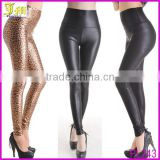 Punk Style Spring Summer Ladies Sexy Leather Look High Waist Stretch Leggings Sex Women Tights Black Leather Pants Size 6-14
