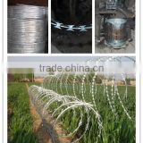 razor wire packing grass boundary galvanized barbed wire galvanize razor blade barbed wire