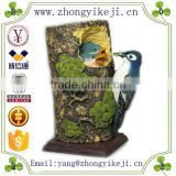 2015 chinese factory custom made handmade carved hot new products resin robin bird statue