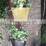 Set Of 2 Yellow And Black Wall Planters