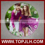 20 cm glass wall clock sublimation photo printed gift clocks