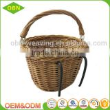 hot sale easy carry removable handmade wicker bicycle baskets wholesale bike basket