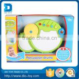 Hot selling hand button plastic drums,baby plastic drums toy ,music instrument drum for kids with lights